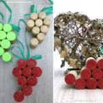 Trauben-Anhänger aus Korken