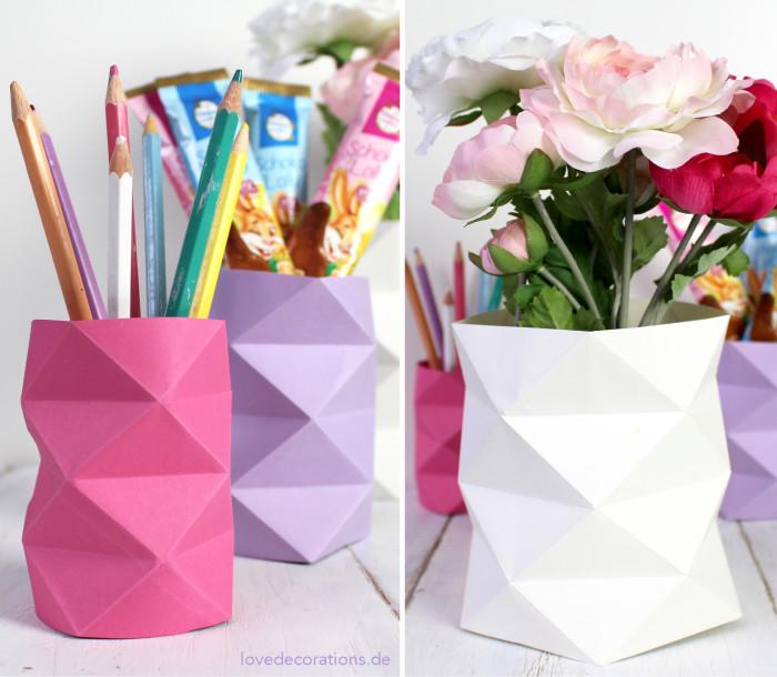 DIY Origami Vase #2 22