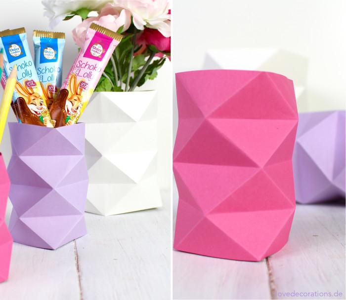 DIY Origami Vase #2 23