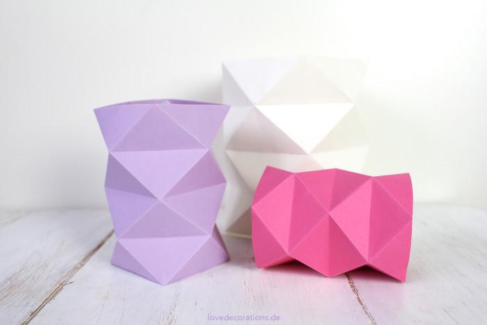 DIY Origami Vase #2 24