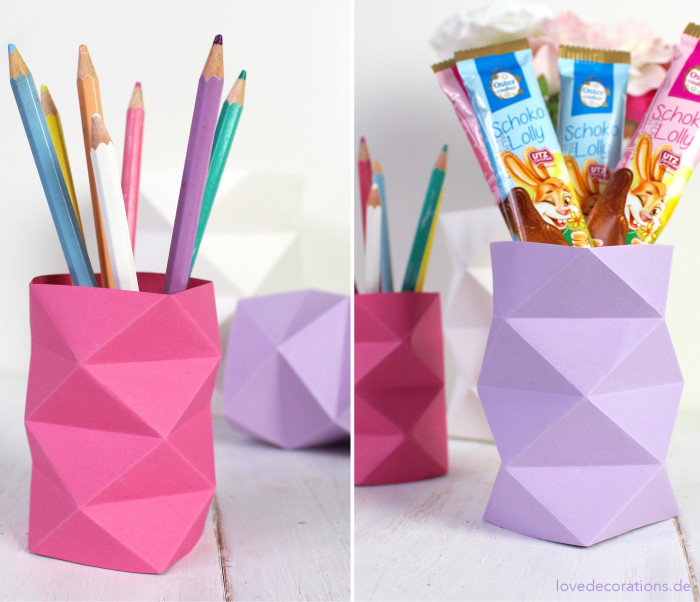 DIY Origami Vase #2 25