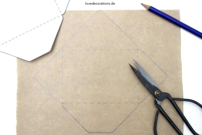 DIY bestickter Briefumschlag Ostern 1