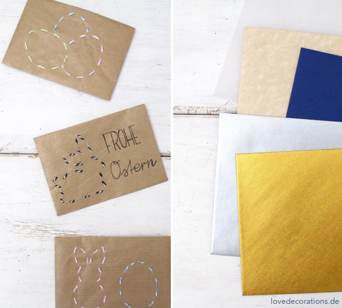 DIY bestickter Briefumschlag Ostern 13