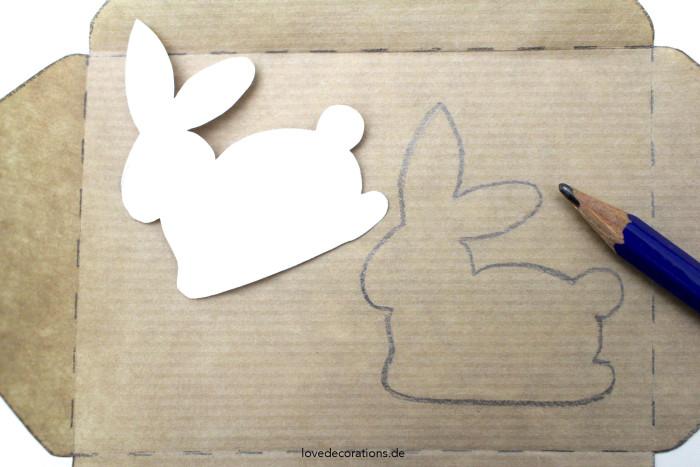 DIY bestickter Briefumschlag Ostern 2