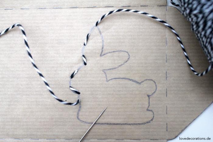 DIY bestickter Briefumschlag Ostern 3