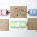 DIY bestickte Briefumschläge für Ostern*