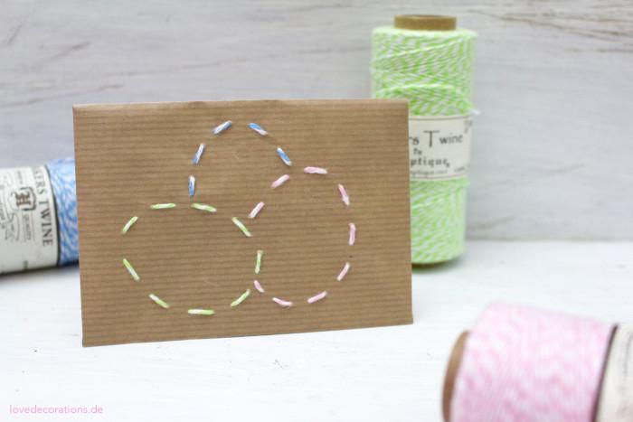 DIY bestickter Briefumschlag Ostern 7