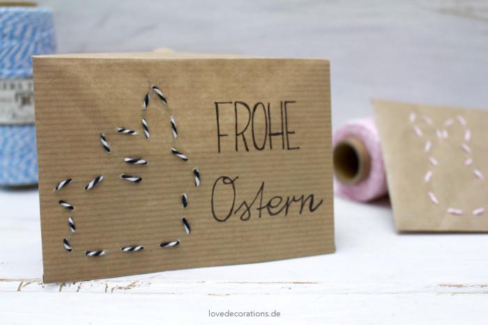 DIY bestickter Briefumschlag Ostern 8