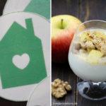 Mein (neues) Logo auf Esspapier von Funbakery* und ein Walnuss-Apfel-Dessert