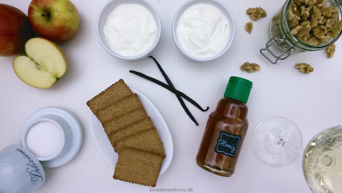 Walnuss-Apfel-Dessert