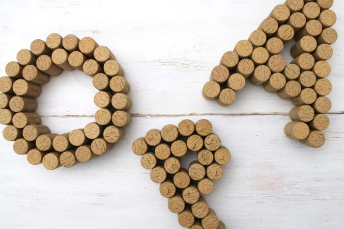 DIY 3D Buchstaben aus Korken 4