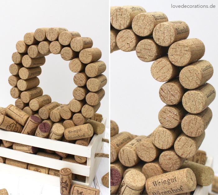 DIY 3D Buchstaben aus Korken 5