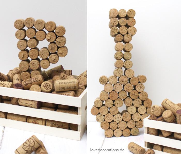 DIY 3D Buchstaben aus Korken 6