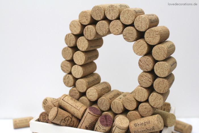 DIY 3D Buchstaben aus Korken 7