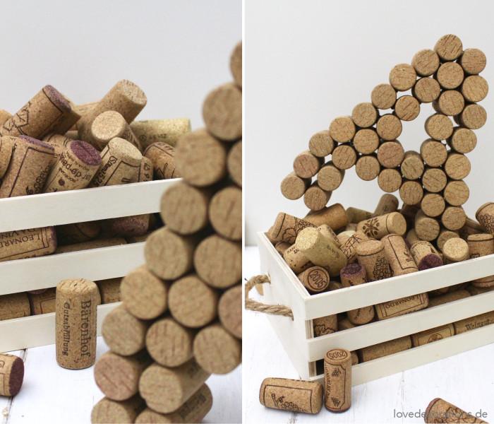 DIY 3D Buchstaben aus Korken 8