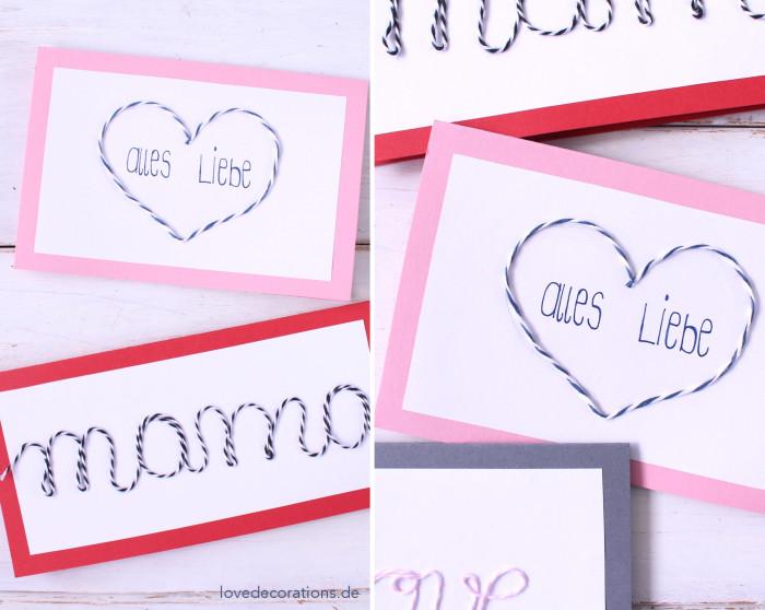 DIY Karte mit Schnurmotiven Muttertag 10