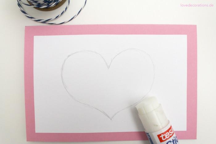 DIY Karte mit Schnurmotiven Muttertag 4