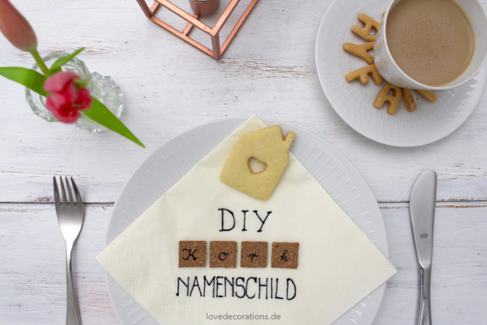 DIY Kork Namensschild 18