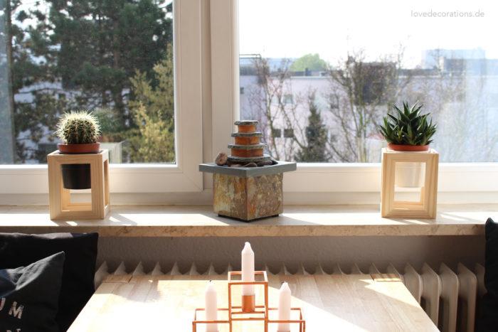 DIY Pflanzenständer Fotorahmen 10