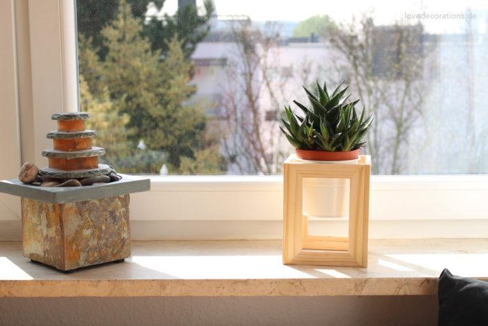 DIY Pflanzenständer Fotorahmen 17