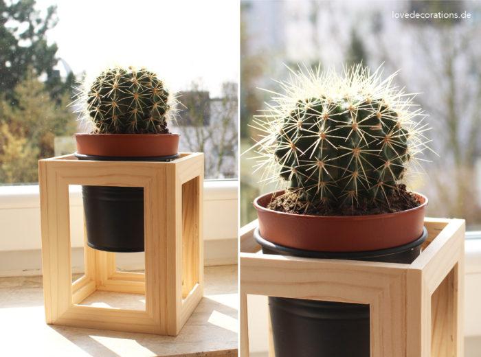 DIY Pflanzenständer Fotorahmen 11