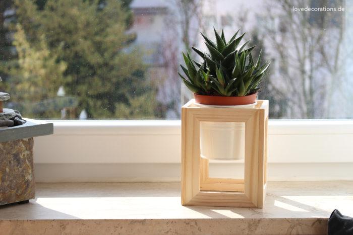 DIY Pflanzenständer Fotorahmen 12