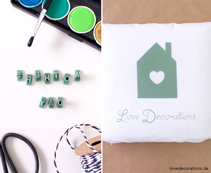 Geschenkverpackung Kissen Handlettering 13