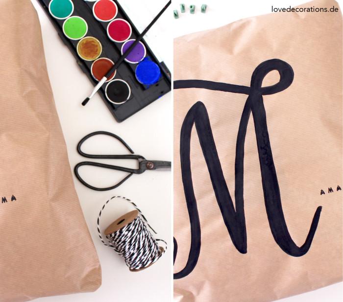 Geschenkverpackung Kissen Handlettering 9