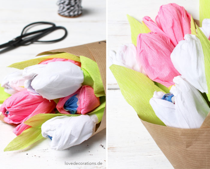 Tulpenstrauß Bonbons Muttertag 24