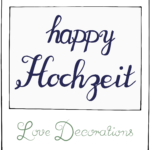 'happy Hochzeit' – Linkparty