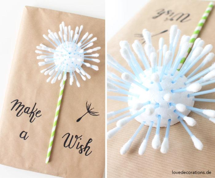 Diy geschenkverpackung die pusteblume und zu welcher for Lampen aus es schlafen alle leute