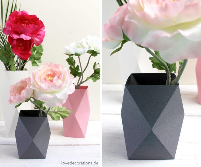 3D Origami Vase V4 Tutorial | DIY Paper Flower Vase Home Decor - YouTube | 581x700