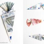 DIY Geldschein falten: Schultüte und Teufelszeug namens Alkohol