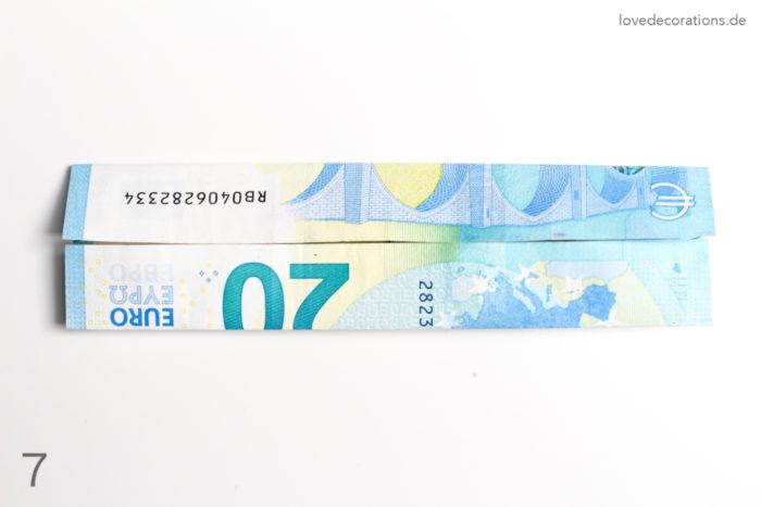 DIY Geldschein falten Schultüte