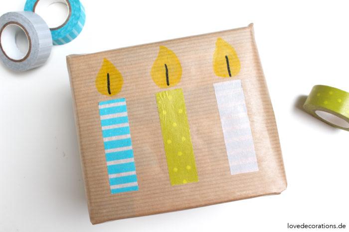 DIY Geschenkverpackung mit Washi Tape
