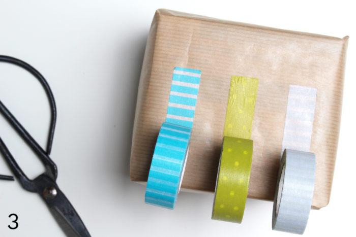 DIY Geschenkverpackung mitWashi Tape