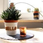 DIY Kork Buchstaben für Pflanzentöpfe mit büroshop24*
