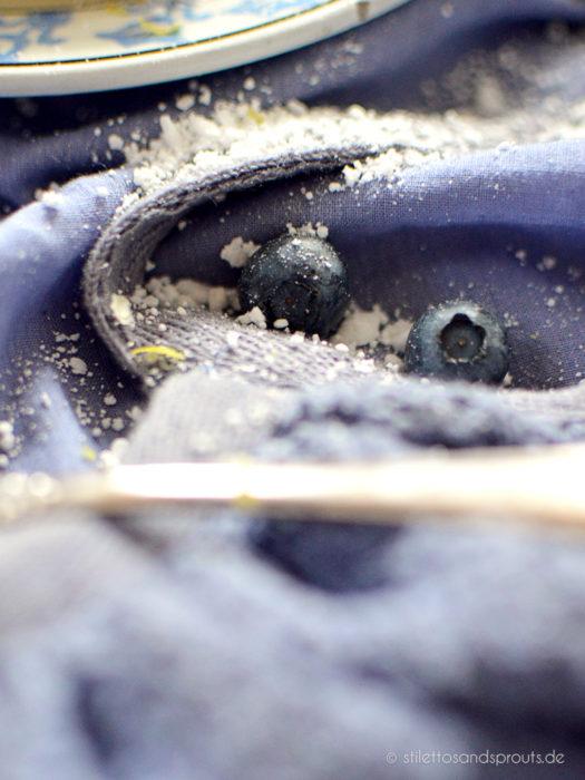 Blaubeer Frischkäse Blätterteigtaschen
