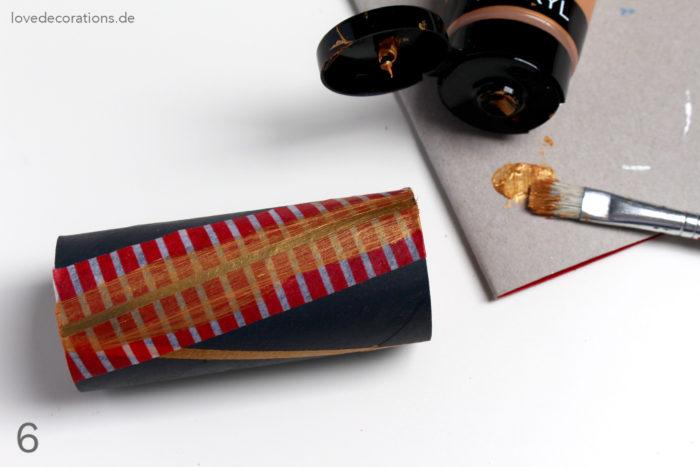 DIY Geschenkpapier Aufbewahrung