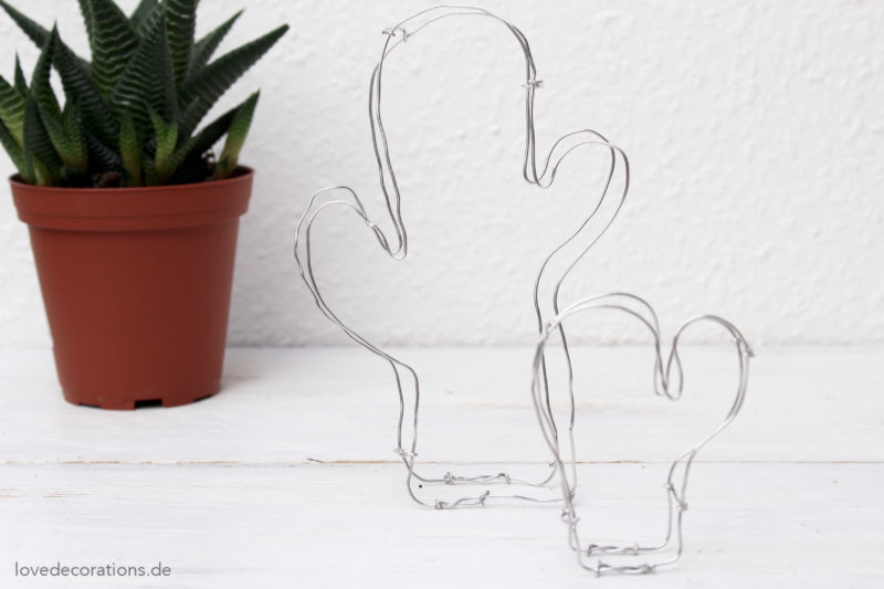 DIY Kaktus aus Draht