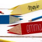 DIY Stift Namensschild und das Treppenproblem