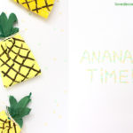 DIY Ananas Tüten und Pinterest-Collagen