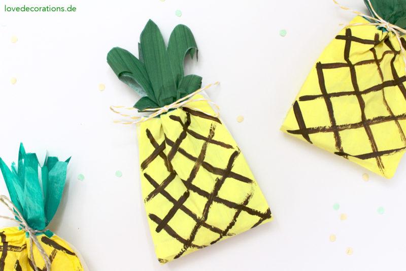DIY Ananas Tüten