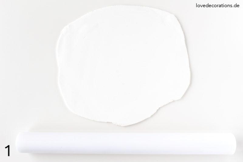 DIY Blatt Untersetzer aus Fimo