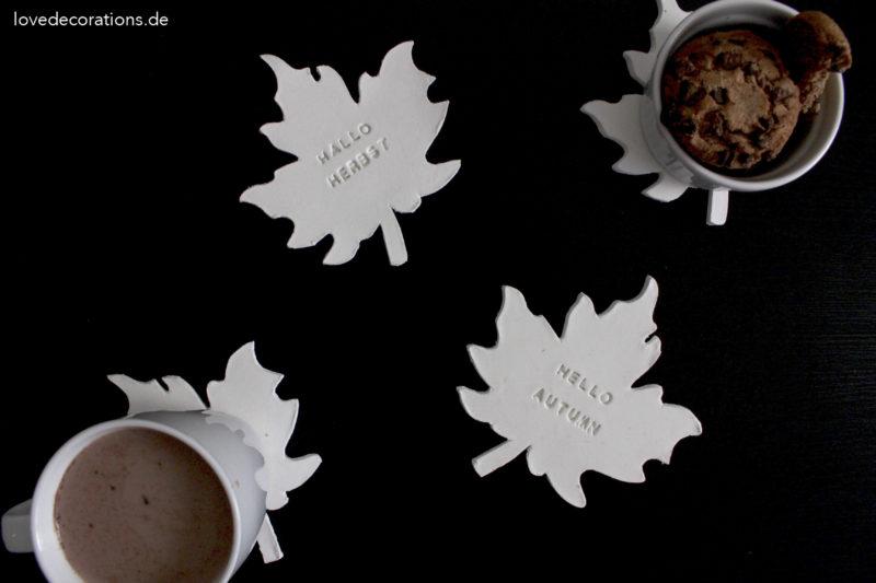 DIY Blatt Untersetzer aus Fimo | Hallo Herbst Blogparade
