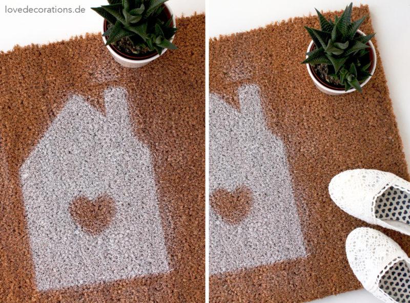 DIY Fußmatte mit Wunschmotiv