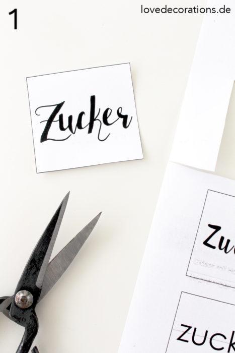 DIY Gläser mit Handlettering beschriften