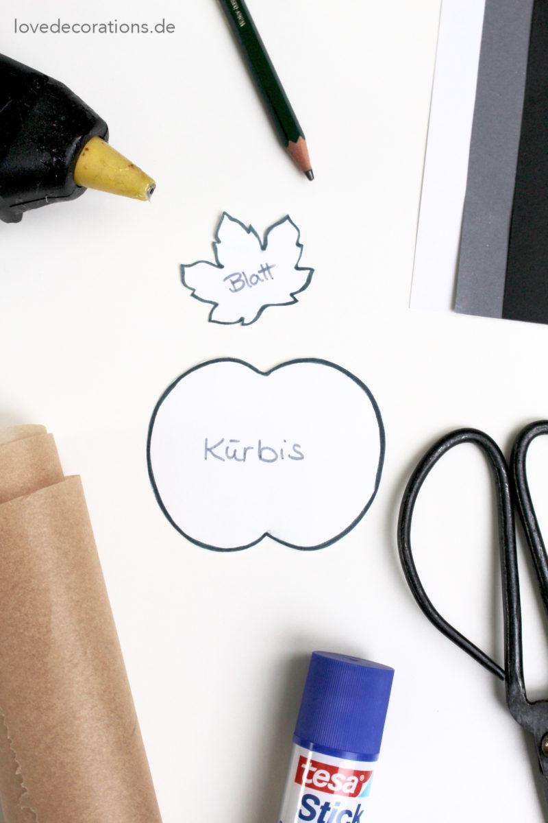 DIY Papier Kürbis