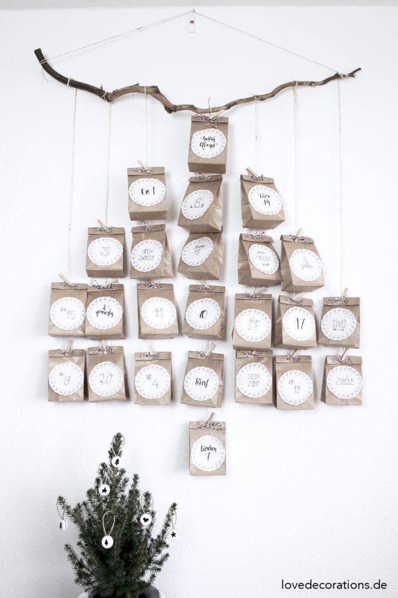 Weihnachtskalender Tannenbaum.Diy Adventskalender In Tannenbaumform Mit Personello Give Away