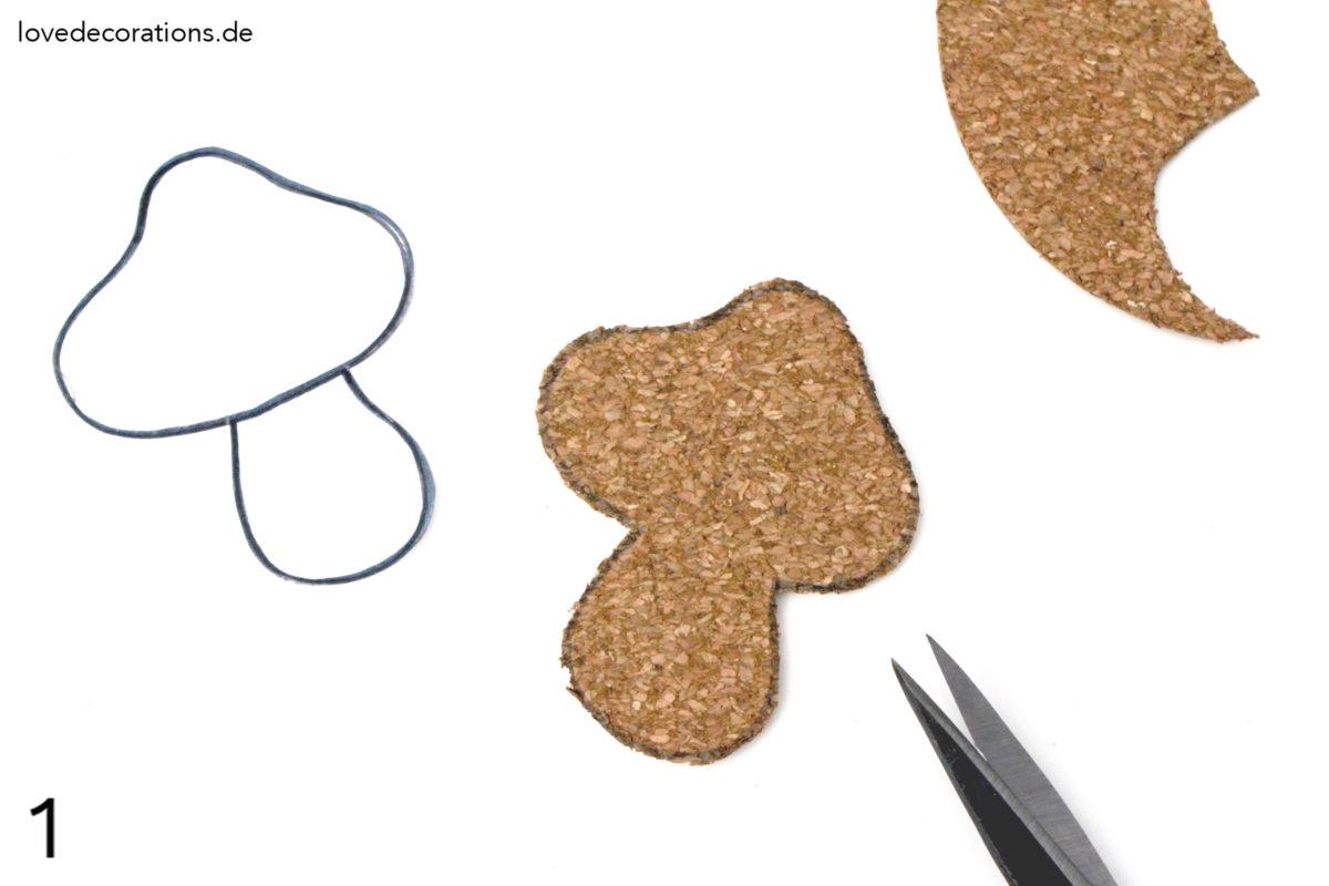 DIY Pilz Namensschild aus Kork | DIY Mushroom Name Tag